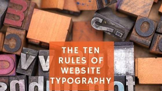 The Ten Rules of Website Typography