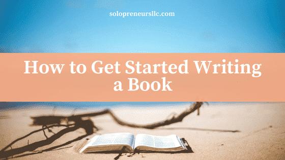 start writing a book