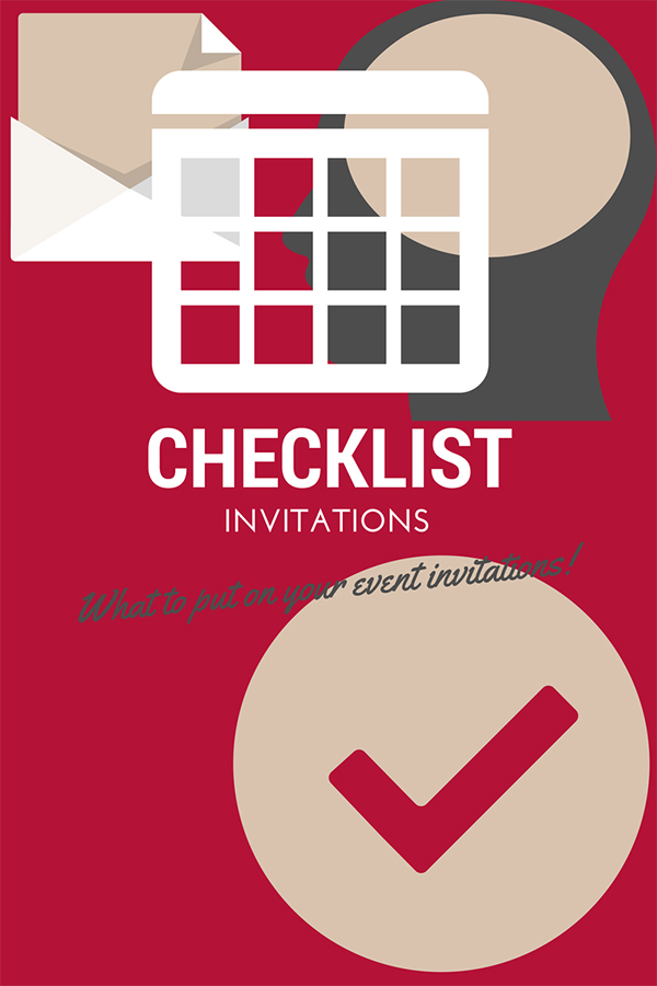 event invitations checklist