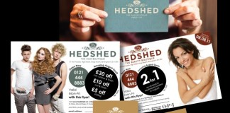Solopress printed these flyers and brochures for Sixth Story client Hedshed