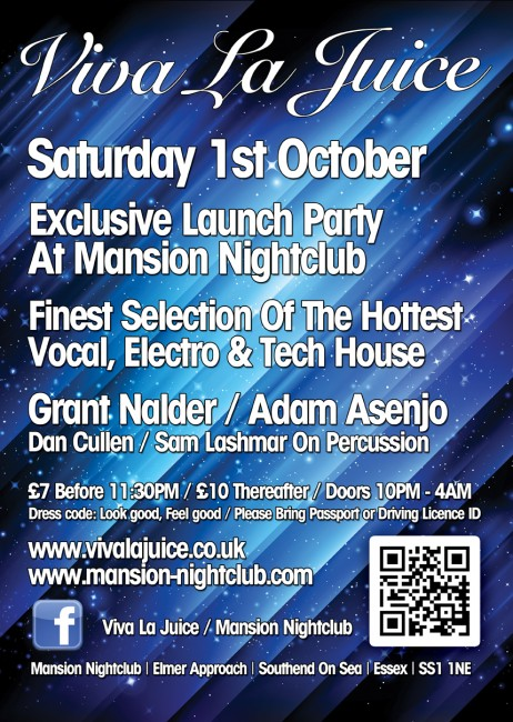 Club poster printing by Solopress for Mansion Nightclub electro tech house