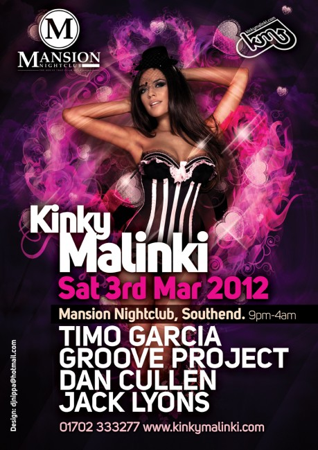Club poster printing by Solopress for Mansion Kinky Malinki March 2012