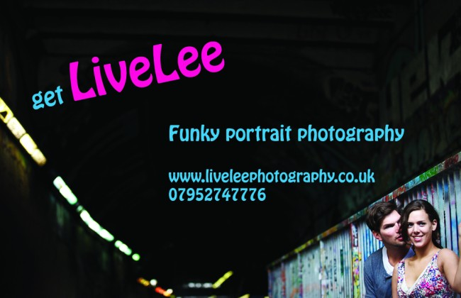 Livelee Portrait Photography matt laminated business cards printed by Solopress