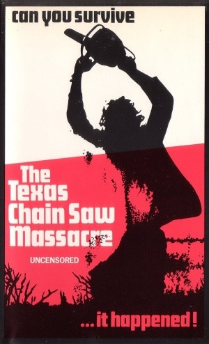 The Texas Chain Saw Massacre horror movie poster in Solopress Printing and Design blog