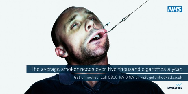 Solopress Design Insight NHS hooked anti smoking poster