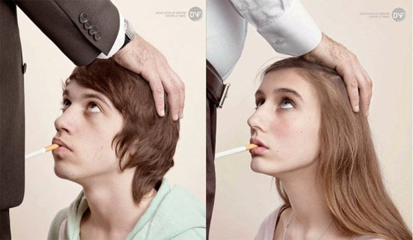 Solopress Design Insight oral sex spoof anti smoking poster