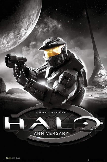 Solopress Design Insight Halo Combat Evolved Anniversary video game poster