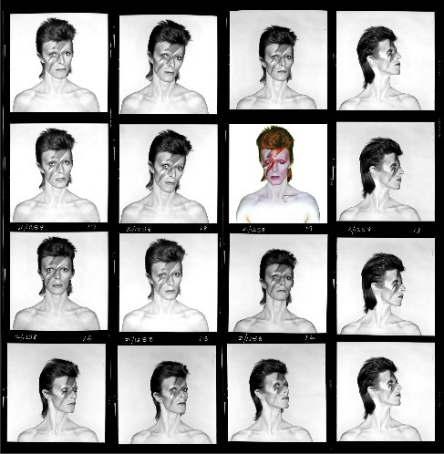 David Bowie Aladdin Sane Contact Sheet print
