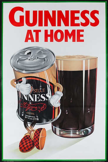 Guinness At Home cartoon can poster in Solopress printing blog