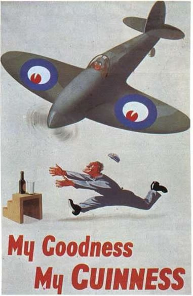 Guinness WWII Spitfire propaganda poster