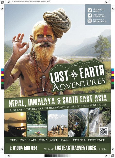 Lost Earth Adventures Asia travel poster