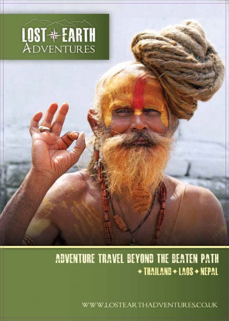 Lost Earth Adventures travel brochures cover