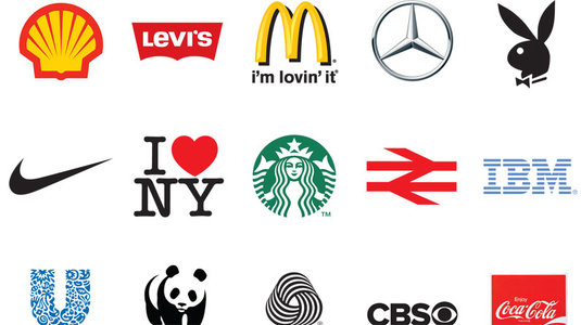 Collage of famous brand logos