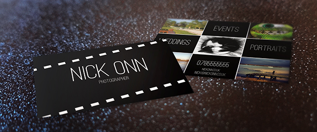 Photographers business card free template tutorial photographers business card front back pronofoot35fo Images