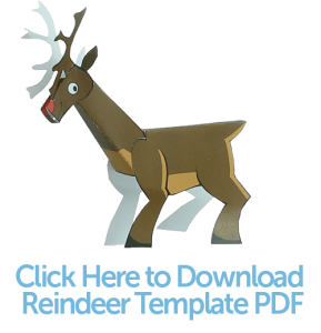Create Your Own Free Christmas Decorations: PaperCraft Reindeer