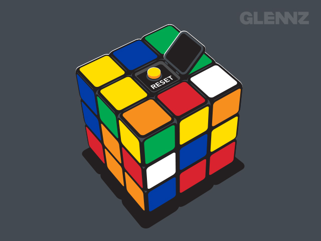Rubik's Cube Reset Button T-shirt