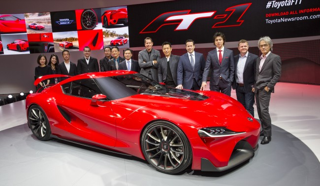 Toyota FT-1 design team at Detroit Auto Show 2014