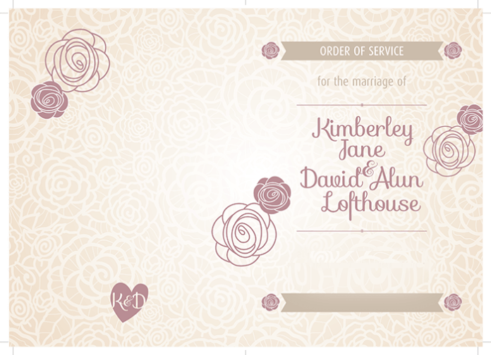 Beautiful and elegant wedding seating plan and order printed by Solopress