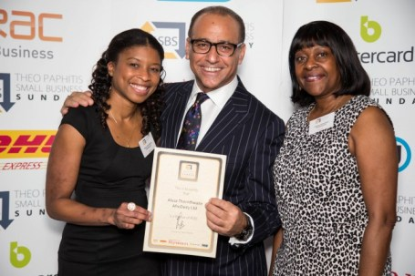 AfroDeity founders meet Theo Paphitis photo