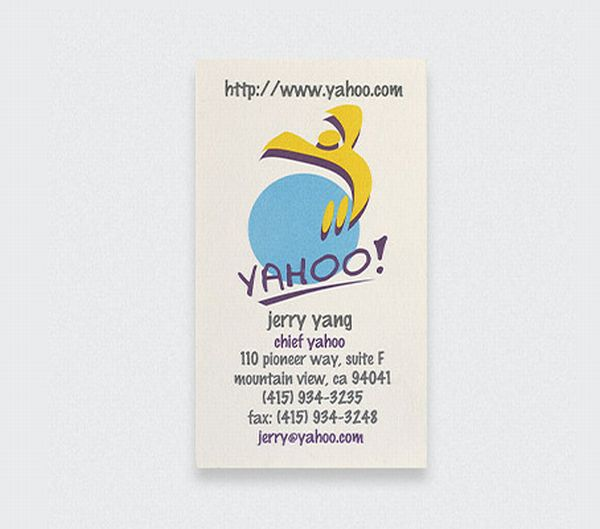 Business cards of the rich famous from lady gaga to walt disney yahoo jerry lang business card colourmoves