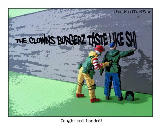 Fast Food Turf War caught red handed artwork