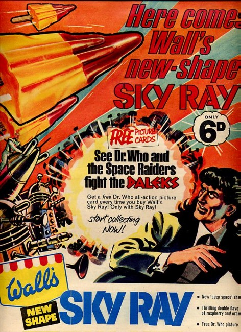 Wall's Sky Ray lolly and Dr Who print advert