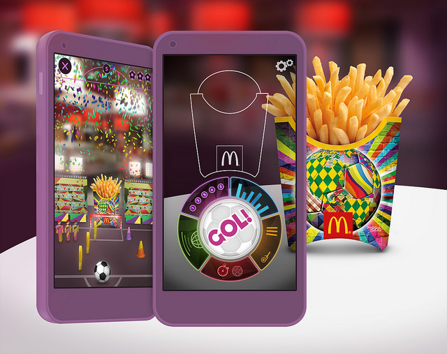 McDonald's World Cup 2014 fries box AR app