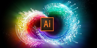 Adobe Creative Cloud Illustrator mash up with two logos