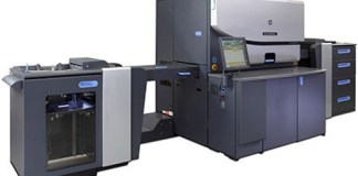 Photo of the new HP Indigo 7800 printer upgrade for profession printers.