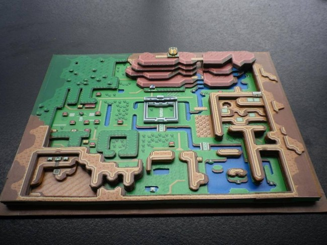 Zelda A Link To The Past 3D paper diorama