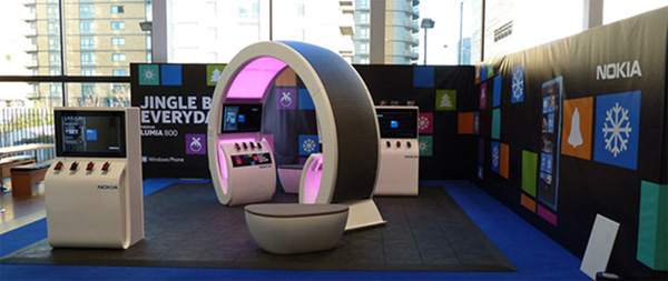 Quirky exhibition stand by Nokia