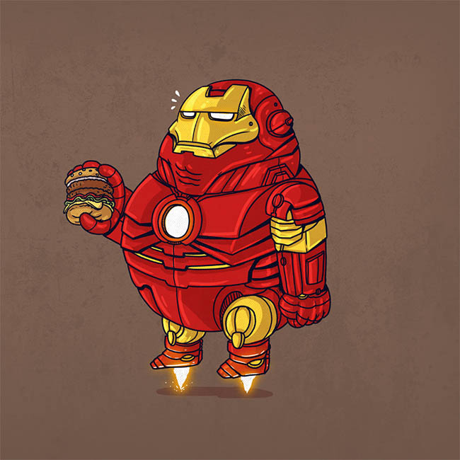 Image of a very fat Iron Man