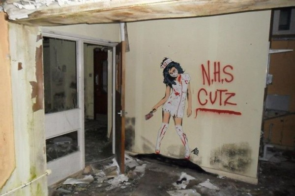 NHS Cutz street art by JPS