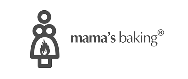 Mamma's baking logo shows a silhouette of an oven - which doubles up to look like a big-busted woman with fire at a rude part on her skirt