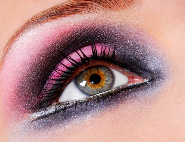 A stunning and colourful image showcasing eye makeup design for the mobile beauty business industry