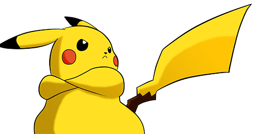Chubby Pikachu poses epically in defence of the Skinny Pikachu Theory