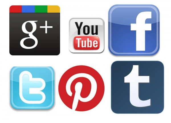 A collection of popular social media icons shown in relation for marketing a mobile beauty business