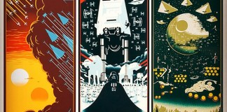 Star Wars original movie trilogy posters by Eric Tan