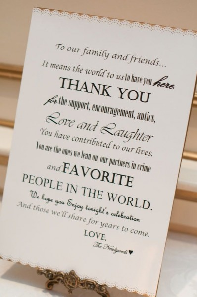 Typography styled wedding thank you poster