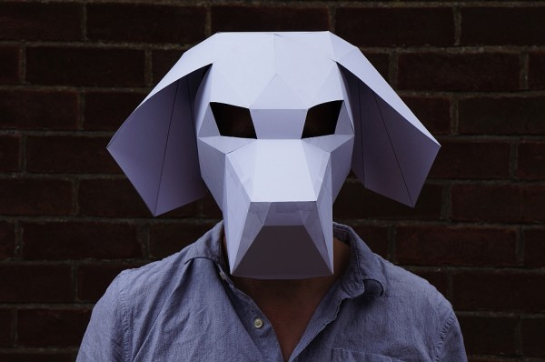Beagle 3D papercraft mask