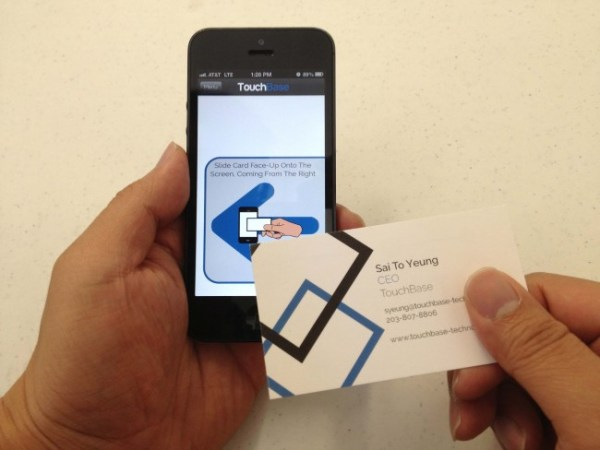 touchbase business cards a great example of high tech print