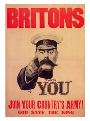 world war one recruitment posters printed