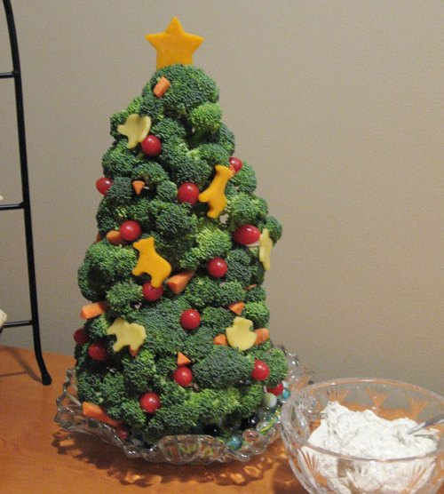 veggie diy christmas trees