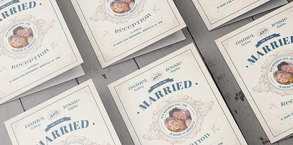 Digitally Printed Invitations