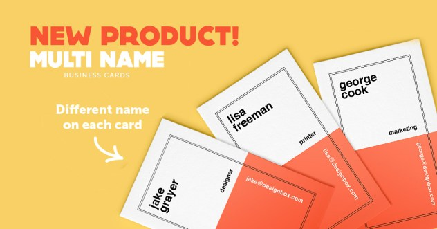 multi-name business cards