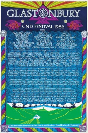 1982 Glastonbury Poster