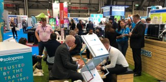 Busy Solopress Stand at The Print Show 2019