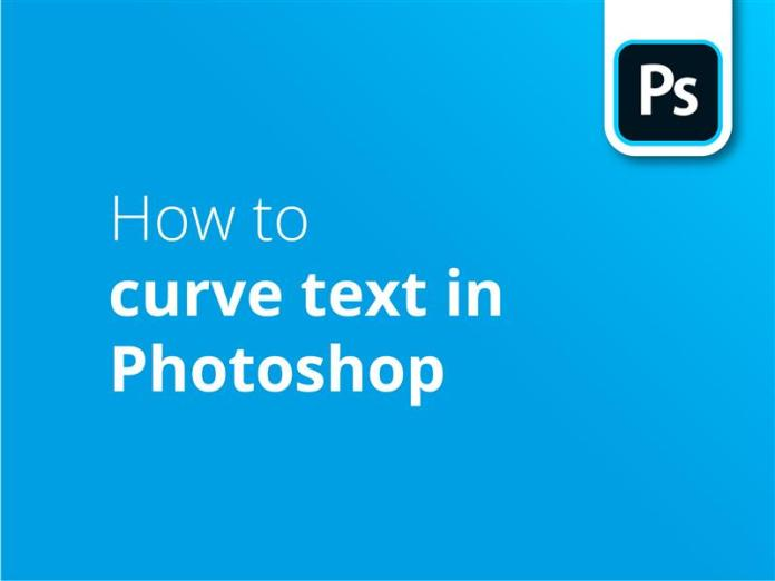 How to curve text in PS header image