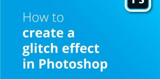 How to create glitch effect header image