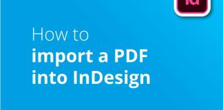 How to import a pdf in ID header image